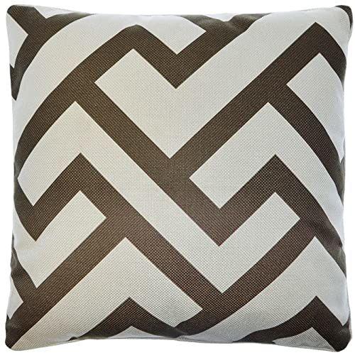 Poduszka Zona, geometryczna 45 x 45 cm z krawędzią tego samego materiału + wypełnienie 480 g (czekolada)