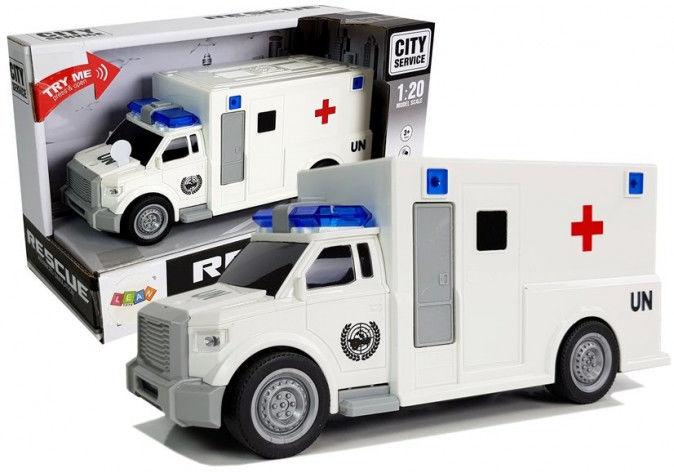 Auto Ambulans z napędem Karetka Pogotowia 1:20 z dźwiękiem
