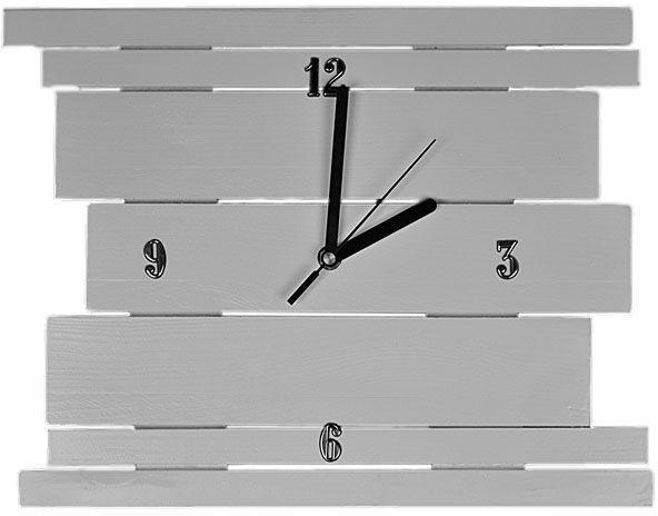 Drewniany zegar ścienny Liptos - 11 kolorów