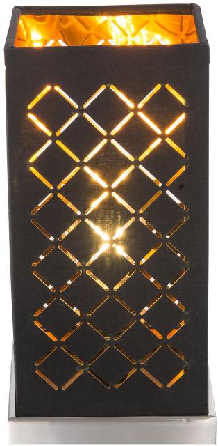 Globo CLARKE 15229T1 lampa stołowa czarno-złoty 1xE14 40W 25cm