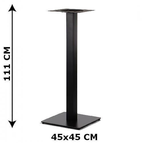 Podstawa stolika SH-5002-5/H/B, 45x45 cm, wysokość 111 cm (stelaż stolika), kolor czarny