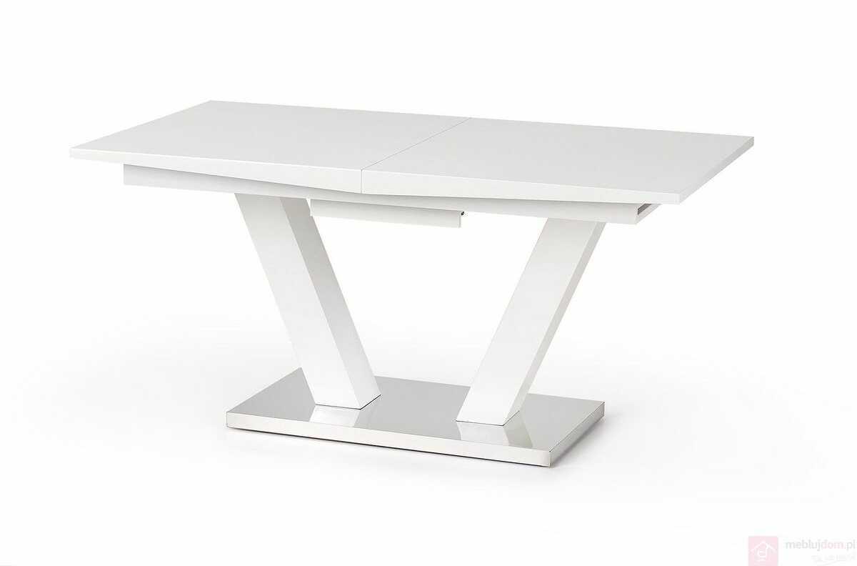 KUPON 10% NA STRONIE  Stół VISION Halmar 90x160-200 cm, Biały połysk