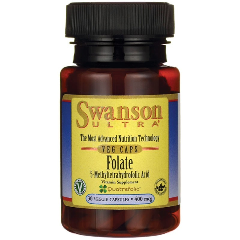 SWANSON Folate 5-Methyltetrahydrofolic Acid 400mcg 30vegcaps