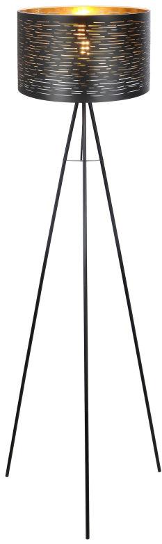 Globo TUNNO 15342S lampa podłogowa czarny czarno-złoty 1xE27 40W 69cm