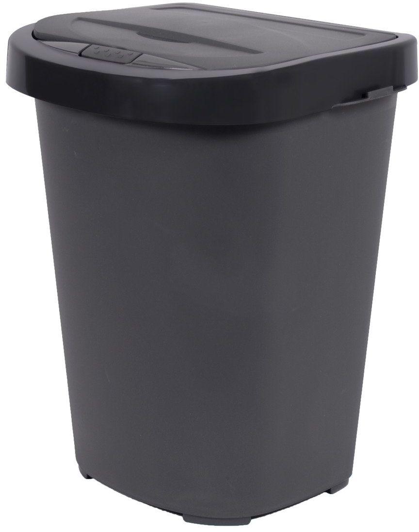 Kosz na śmieci do sortowania 40L antracyt
