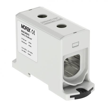 Złączka szynowa 35-240mm2 szara 2otwor AL/CU 1000V TH35 1P MAA1240A10 Morek 3972