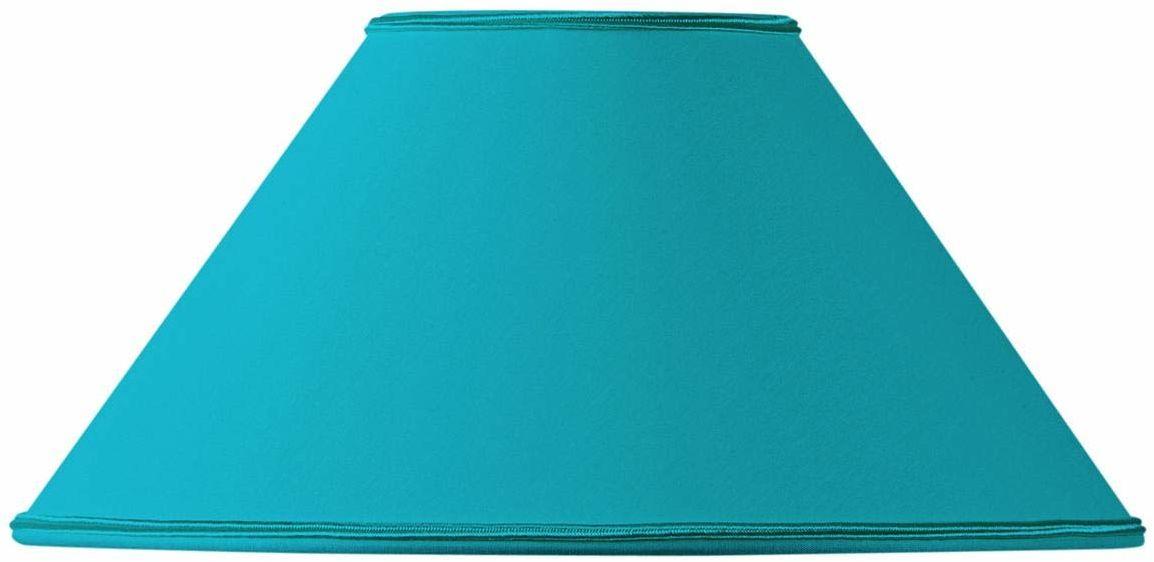 Klosz lampy w kształcie retro, 40 x 13 x 23 cm, turkusowy