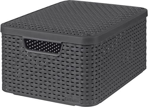 Curver pudełko do przechowywania, polipropylen, antracyt, 39,3 x 29,3 x 18,7 cm, 3 sztuki