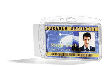 Durable Etui na dwie karty identyfikacyjne 54 x 85 mm 10 szt