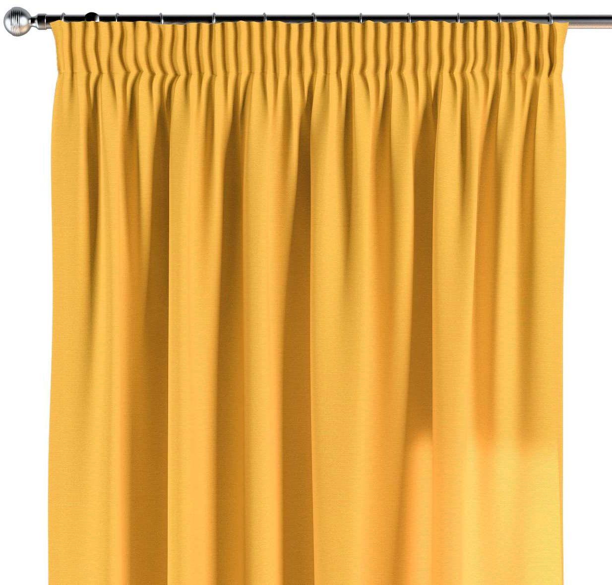 Zasłona na taśmie marszczącej 1 szt., żółty, 1szt 130  260 cm, Loneta