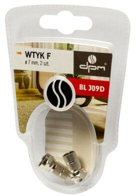 Wtyk F DPM BLJ09D 7mm 2szt