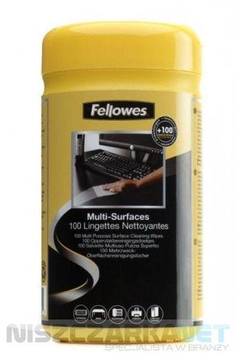 Ściereczki nasączone do obudów Fellowes - tuba 100 szt