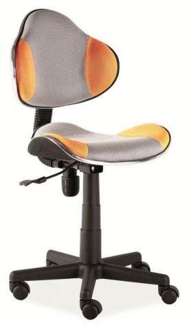Fotel dziecięcy Q-G2 pomarańczowy/szary