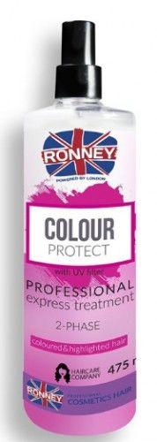 Ronney Color Protect dwufazowa mgiełka do włosów farbowanych 475 ml