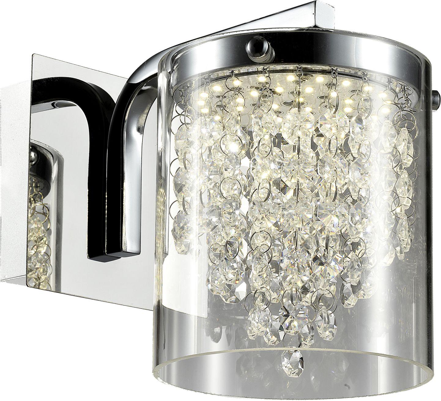 Kinkiet Cantos LP-1114/1W Light Prestige transparentna lampa ścienna w nowoczesnym stylu