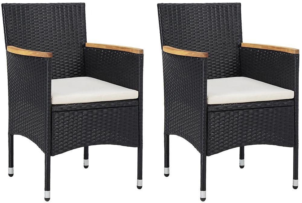 Zestaw polirattanowych krzeseł ogrodowych - Ella