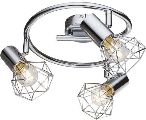 Globo XARA I 54802-3 plafon lampa sufitowa chrom 3xE14 40W 25cm