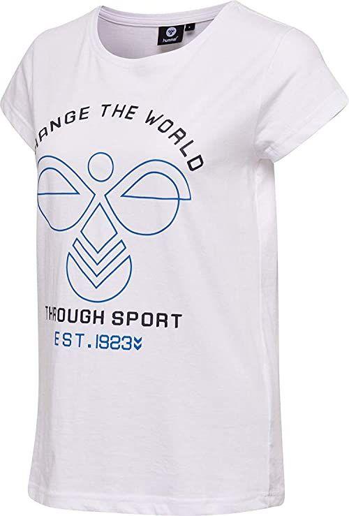 Hummel Koszulki damskie Hmlaubree biały biały S