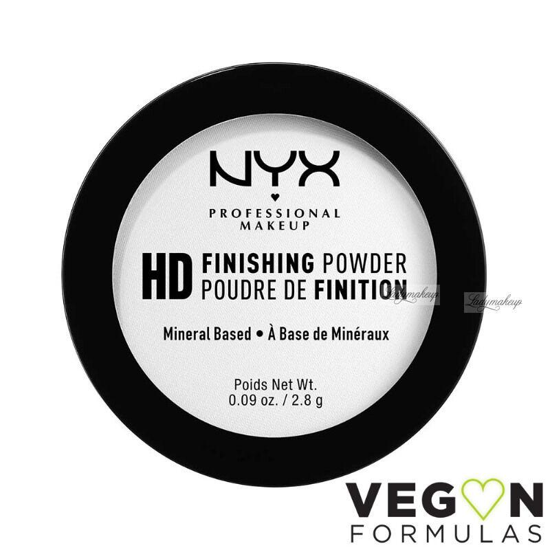 NYX Professional Makeup - HD FINISHING POWDER - Prasowany puder transparentny do makijażu
