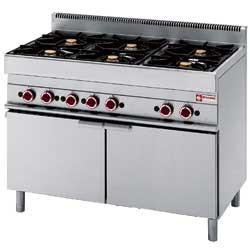 Kuchnia gazowa 6 palnikowa z piekarnikiem gaz. 25800W