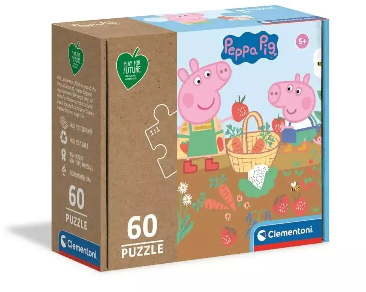 Puzzle 60 play for future Peppa Pig 26103 - Clementoni