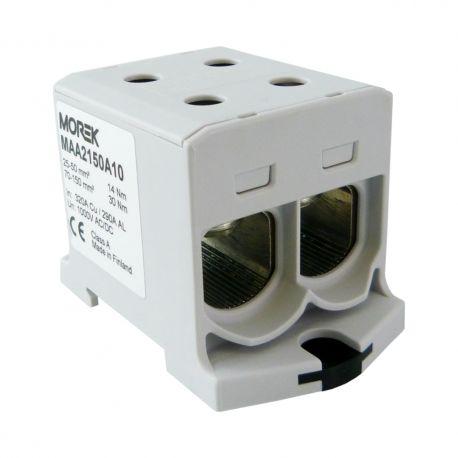Złączka szynowa 25-150mm2 szara 4otwor AL/CU 1000V TH35 1P MAA2150A10 Morek 4191