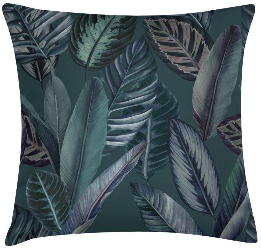 Poduszka w liście Feuilles ciemnozielona 45 x 45 cm