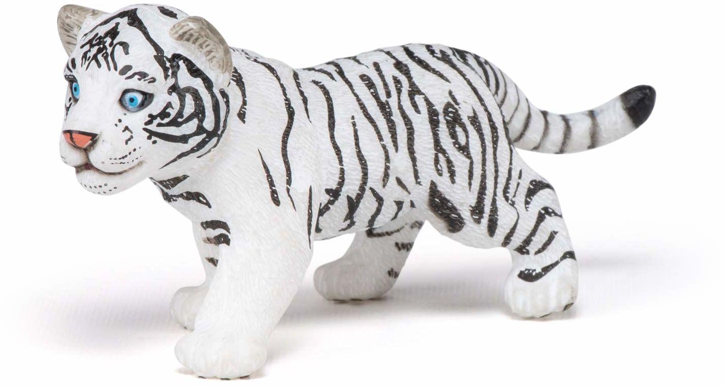 Papo 50048 Biały tygrys cub Wild ANIMAL KINGDOM Figurka, wielokolorowa