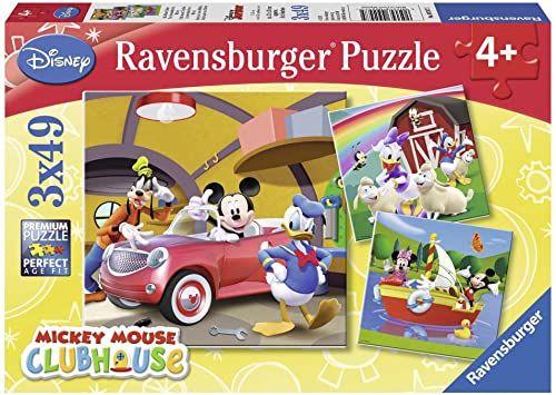 Ravensburger Disney Mickey Mouse, Clubhaus 3 x 49 części, puzzle