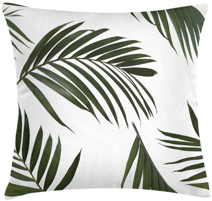 Poduszka w liście palmy Paume zielona 45 x 45 cm