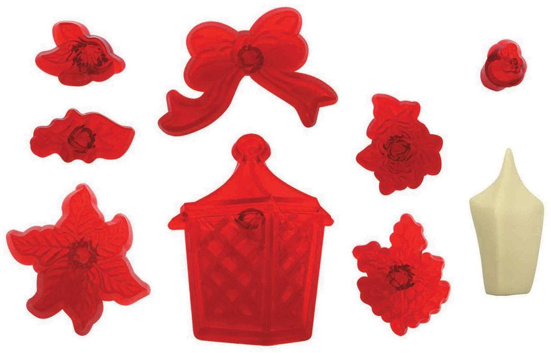 JEM Latarnia bożonarodzeniowa, kwiaty i liście, zestaw 9 sztuk