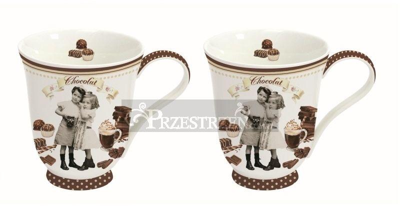 KUBKI PORCELANOWE - Vintage Chocolate (1124 CHOV) - KOMPLET 2 Szt.