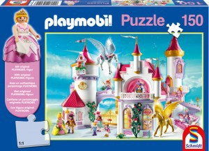Puzzle Playmobil - W zamku księżniczek - 150 el. + figurka