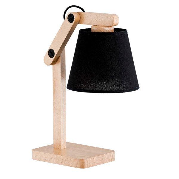 Lampa stołowa JOGA BLACK drewno/czarny