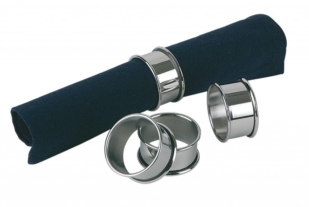 Pierścień ze stali nierdzewnej do serwetek 4 szt. śr. 45x(H)25mm