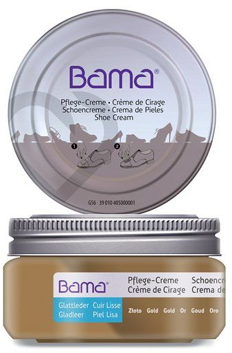 Krem do obuwia BAMA Premium 099 Złoto Metalik 50ml w słoiczku - Złoty