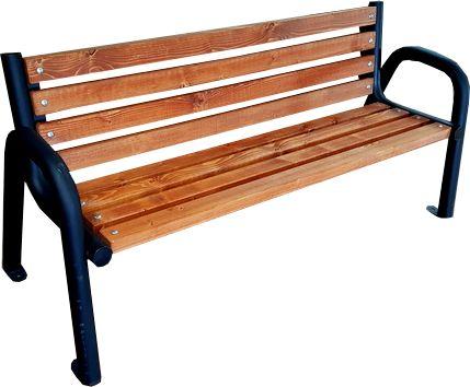 Ławka z oparciem miejska parkowa Opus
