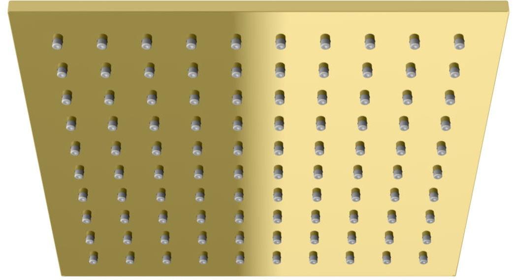 Kohlman deszczownica kwadratowa Q25 25x25 cm złoty
