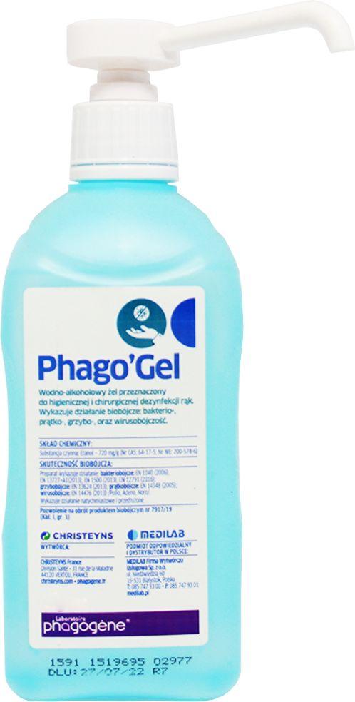 Phago''Gel 1000 ml z pompką - preparat do dezynfekcji rąk