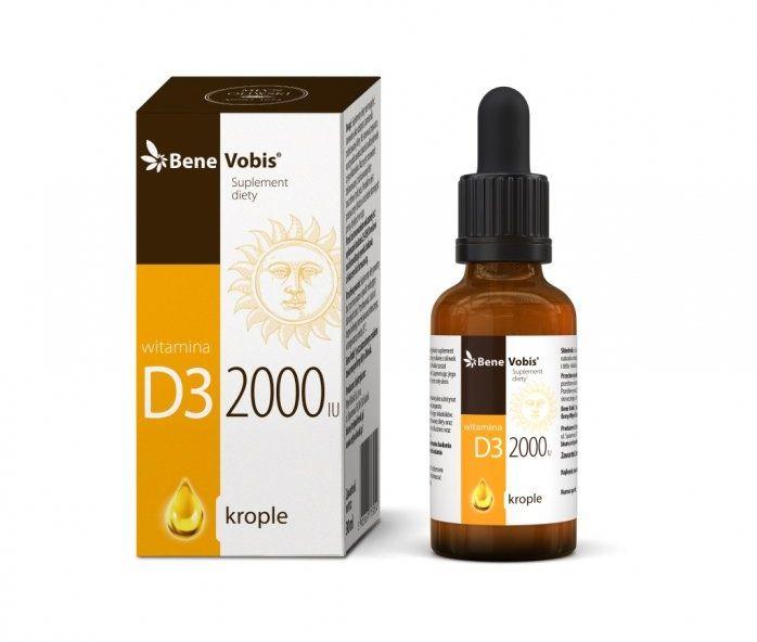 Bene Vobis - Witamina D3 2000IU w oliwie z oliwek - 30 ml