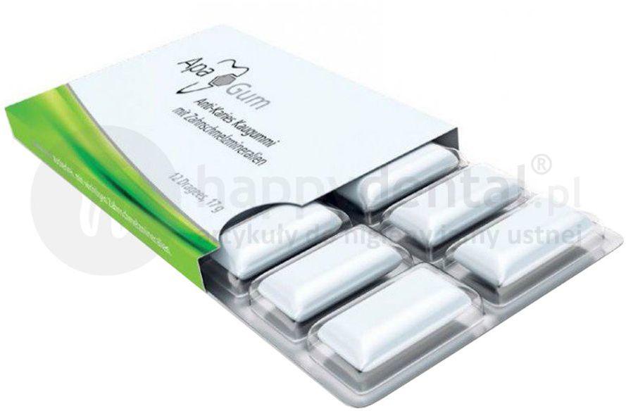 APACARE ApaGum guma do żucia z ksylitolem, wapniem i fosforem - 12szt