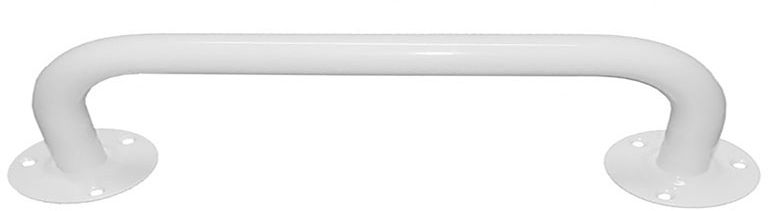 Poręcz dla niepełnosprawnych do łazienki prosta fi 25 80 cm Faneco stal biała