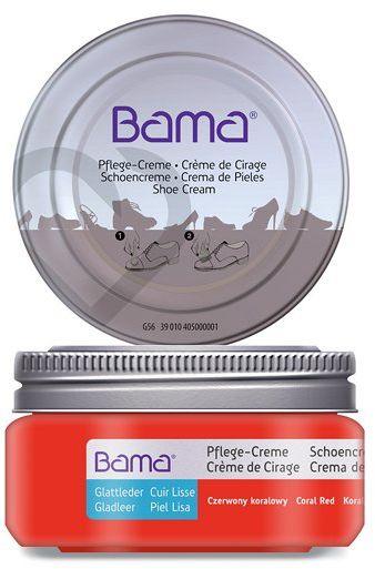Krem do obuwia BAMA Premium 088 Czerwony Koralowy 50ml w słoiczku