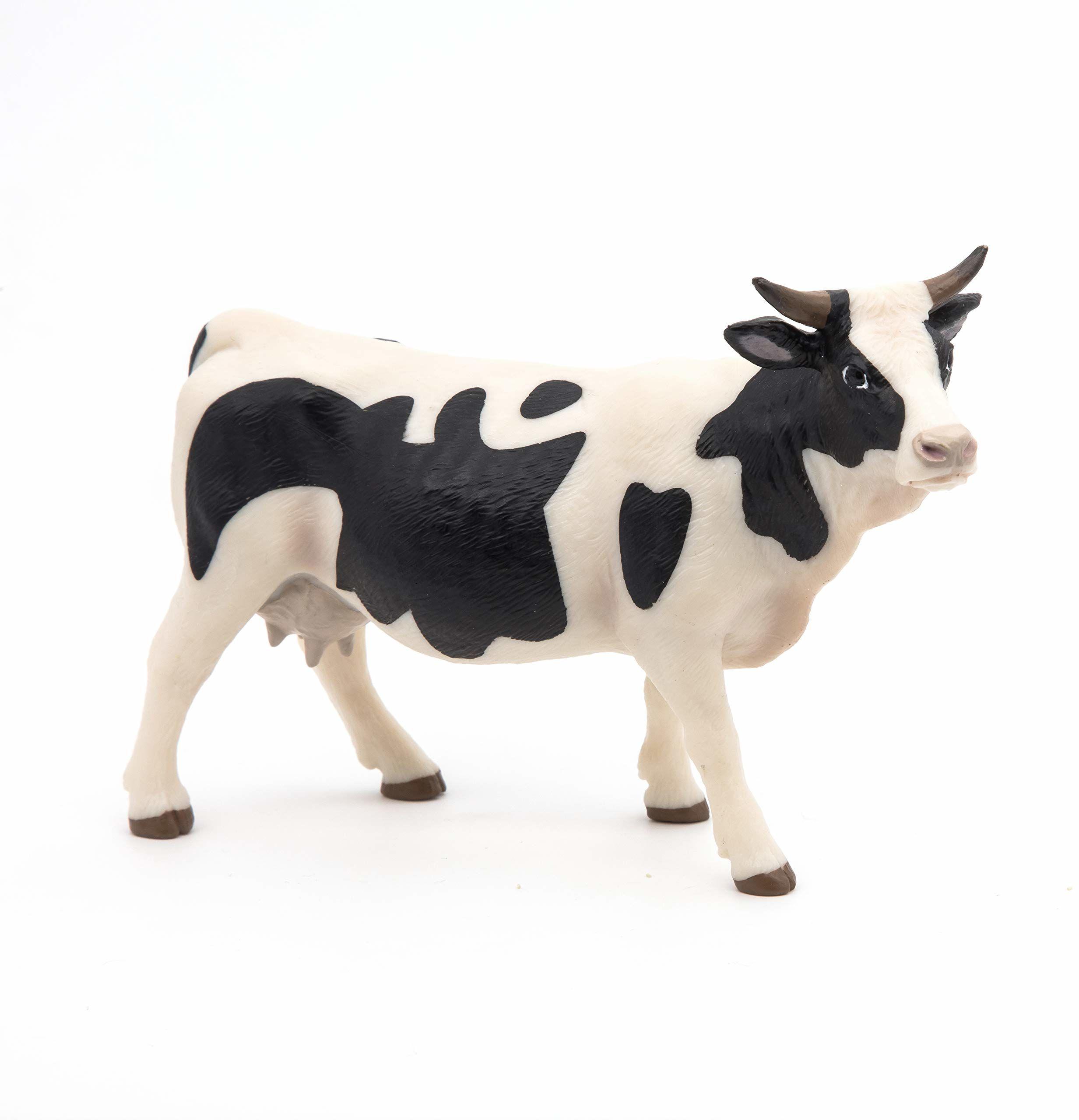 Papo 51148 Żyj na wyprawę Bauernhof Holstein krowy, wielokolorowy
