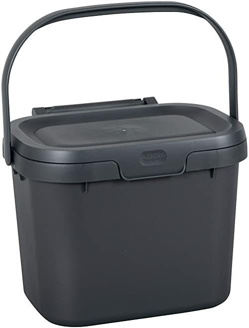 Addis pojemnik na odpady na żywność do codziennego użytku kompostownik kompostowy, 4,5 litra, srebrny, metaliczny