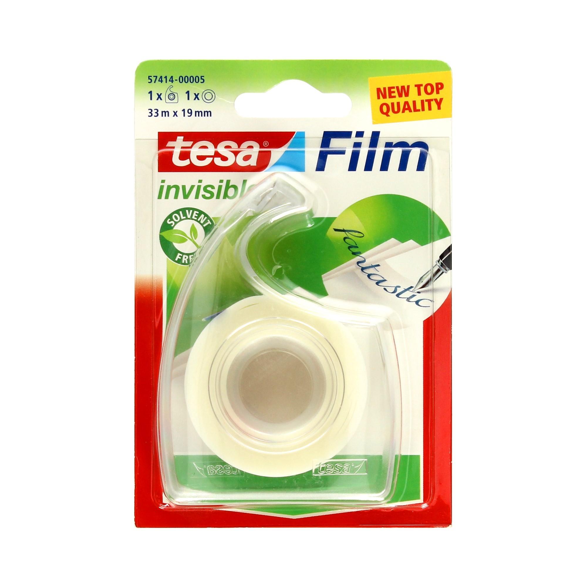 Taśma klejąca 19mmx33m invisible + podajnik Tesa