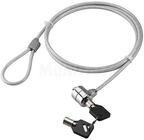 Linka zabezpieczająca do laptopa GOOBAY kolor srebrny 1,5m