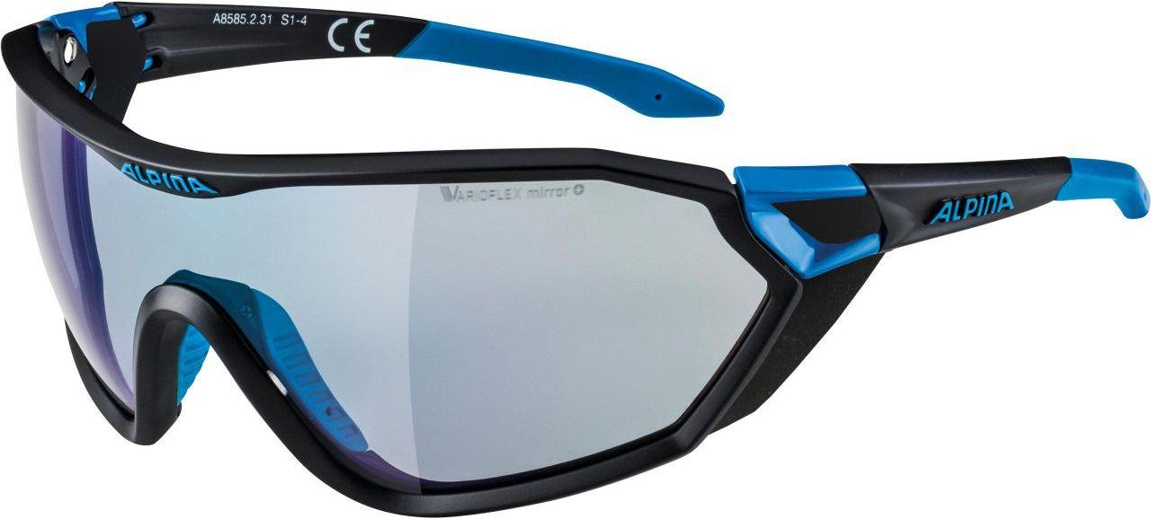ALPINA okulary sportowe fotochromowe s-way VLM+ black matt-cyan A8585231,4003692240439