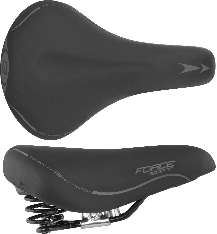 FORCE Damskie siodełko rowerowe LADY czarne 20010,8592627009495