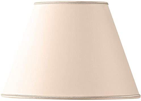 Stożkowy klosz z tkaniny o średnicy 40 x 21 x 27 cm beżowy/różowy